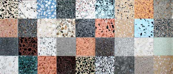 alle kleuren terazzo / granito zijn mogelijk