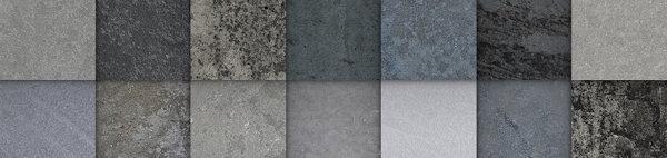 verschillende kleuren in beton zijn mogelijk