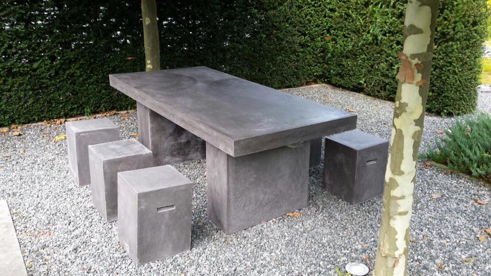Beton Tafel Buiten : Beton cire tafel buiten beton cire op hout betonlook tafel is de