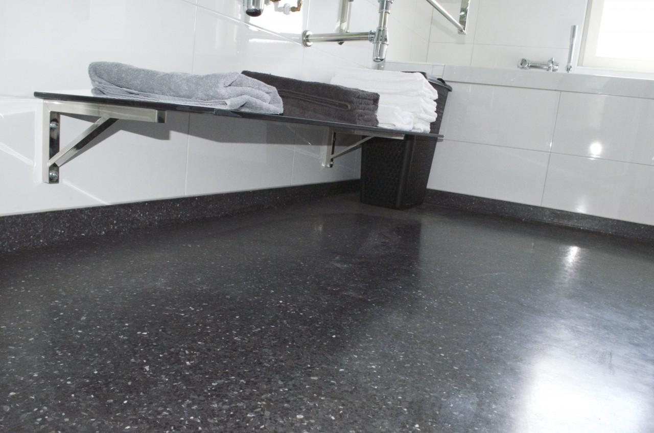 Terrazzo badkamer - WDM Jansen beton en terrazzo / granito uit Apeldoorn